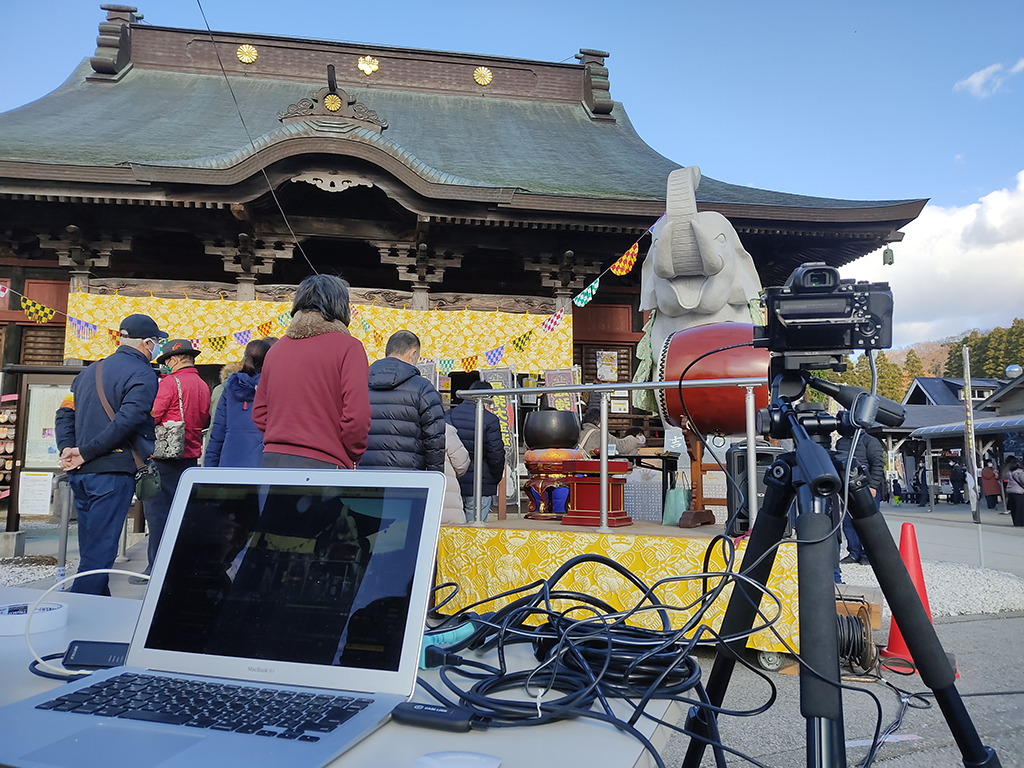 長福寿寺様、TGC祈願祭の様子をライブ配信いたしました